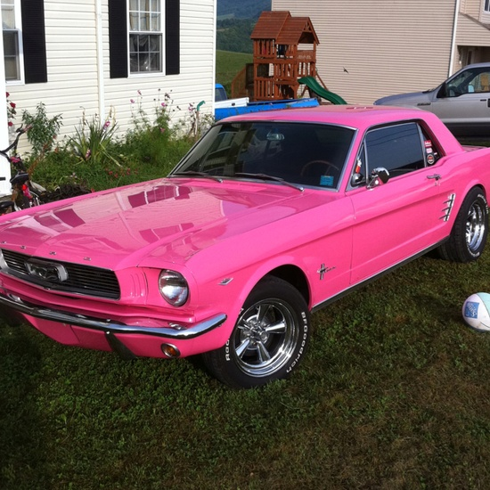 girly cars pink cars every women will love pink mustang classic. Black Bedroom Furniture Sets. Home Design Ideas
