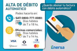 Activá el débito automático de tu factura