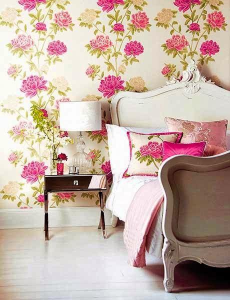 Papel pintado flores Romántico