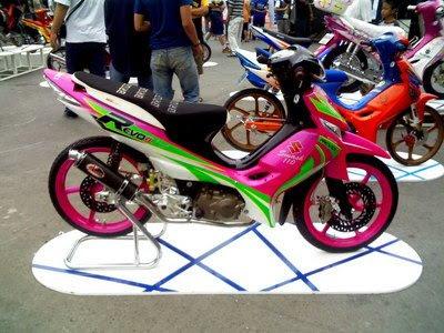 Suzuki Shogun Modif Airbrush