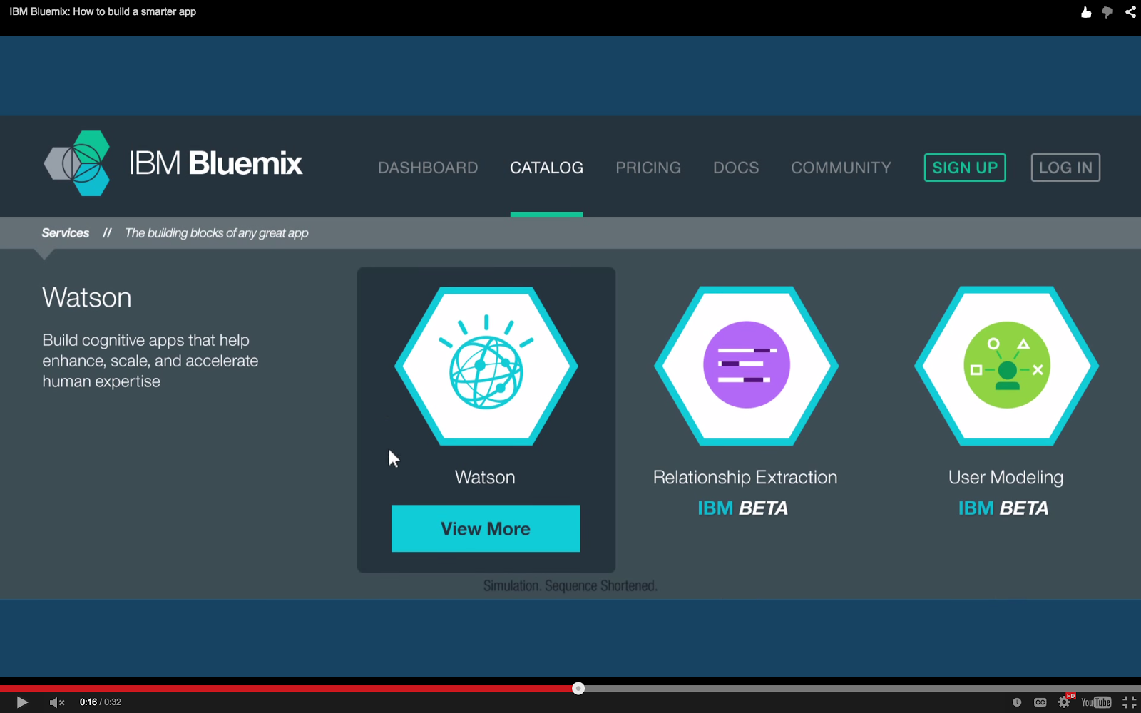 Bluemix YouTube: Bluemix UI Catalog for Watson