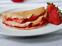 Resep Membuat Pancake Keju Special Strawberry