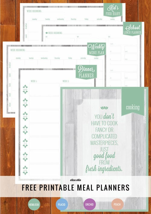 Home Organizer: Free Printable Meal Planners
