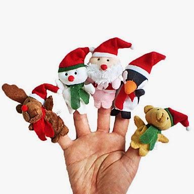 Peluches Marionetas de Dedo Navidad