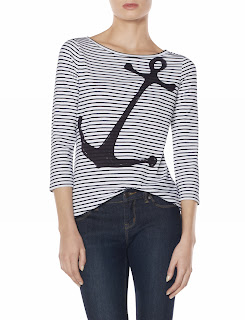 The Limited anchor striped t shirt