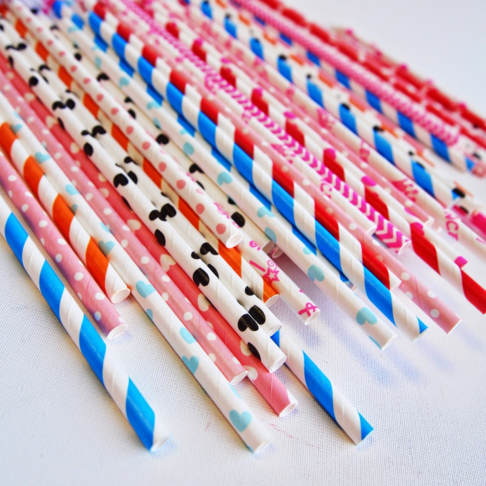 Renkli Sipariş Kağıt Pipetler