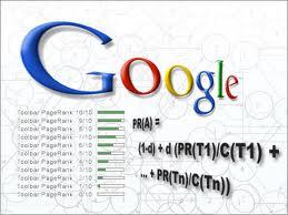 Formula Google Pagerank