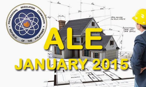 January 2015 Architect Board Exam Results - Architect Licensure Examination (ALE) Passers January 2015