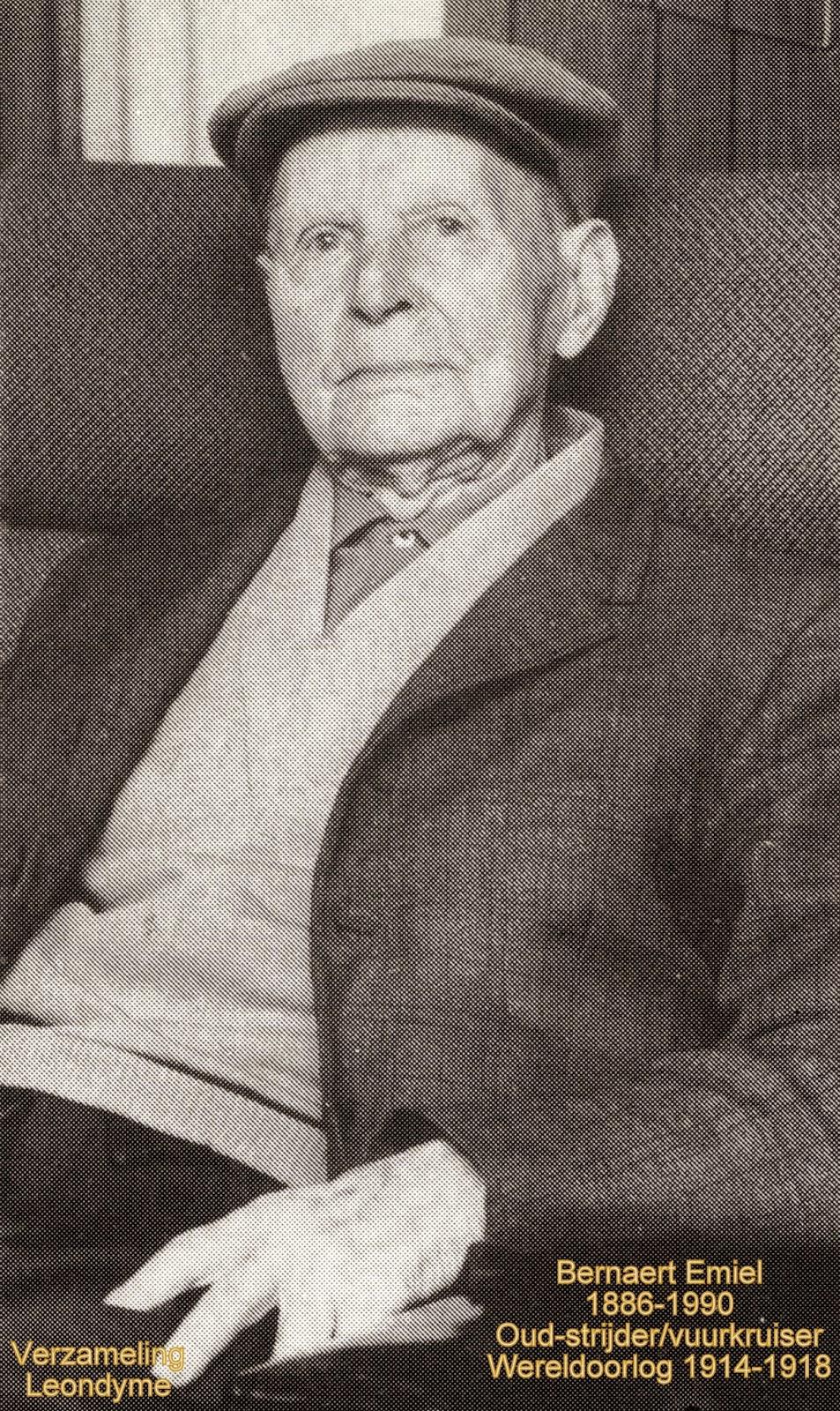 Emiel Bernaert 1886-1990. Foto bidprentje, verzameling Leondyme