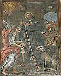 Obraz ŚWIĘTEGO ROCHA Z PSEM z naszego kościoła