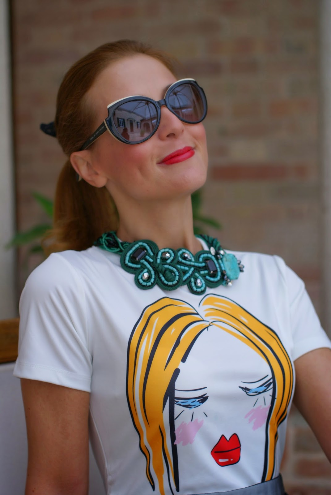 Blackfive lady head dress, Marc by Marc jacobs sunglasses, Sodini necklace, Fashion and Cookies, fashion blogger