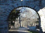 Beautiful ruins in the fall