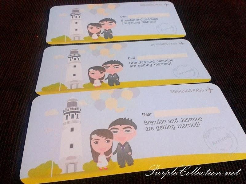 Cute boarding pass wedding card stopboris Choice Image