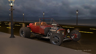 A unfinished Hot Rod scene with a changed street texture
