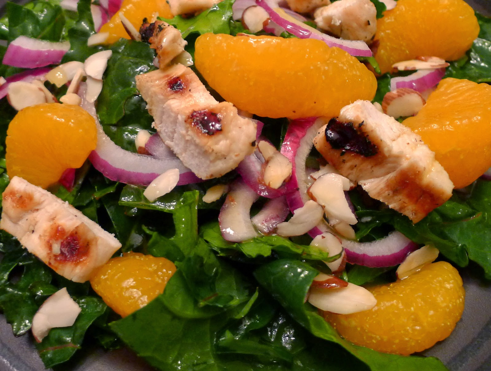 Softened Kale, Chicken and Citrus Salad, salad recipes