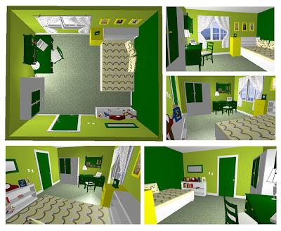 desain kamar tidur green theme desain rumah rumah