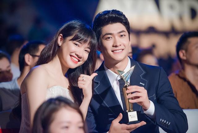 Hai diễn viên Tuổi thanh xuân là Nhã Phương và Kang Tae-Oh.