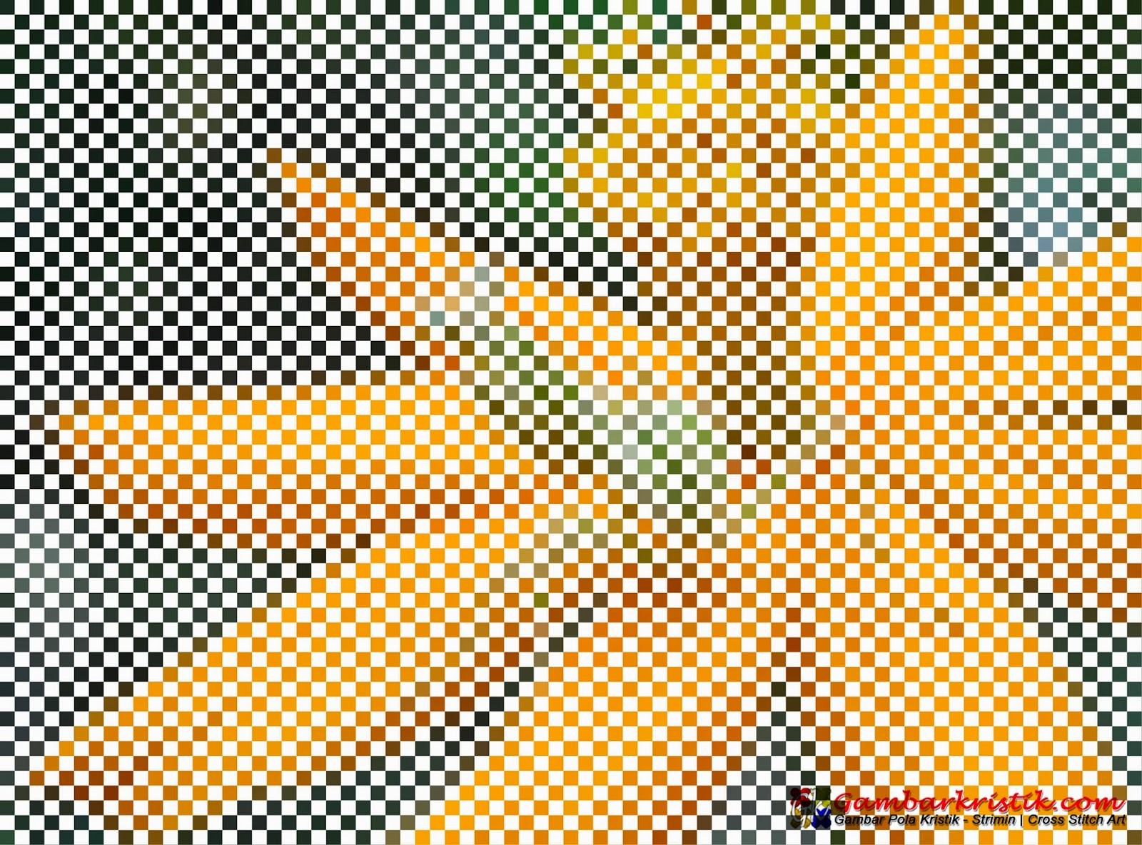 Gambar Anyaman Digital - Belalang di Bunga Kenikir Kuning