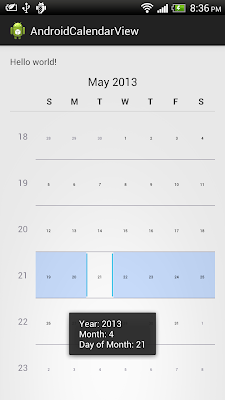 android.widget.CalendarView