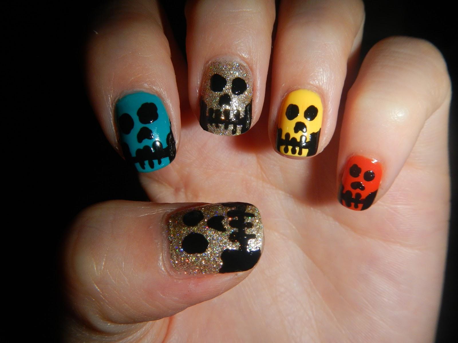 Karen Lives High Skulls Nail Art For Halloween