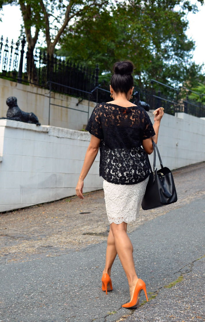 Lace Skirt Street Style