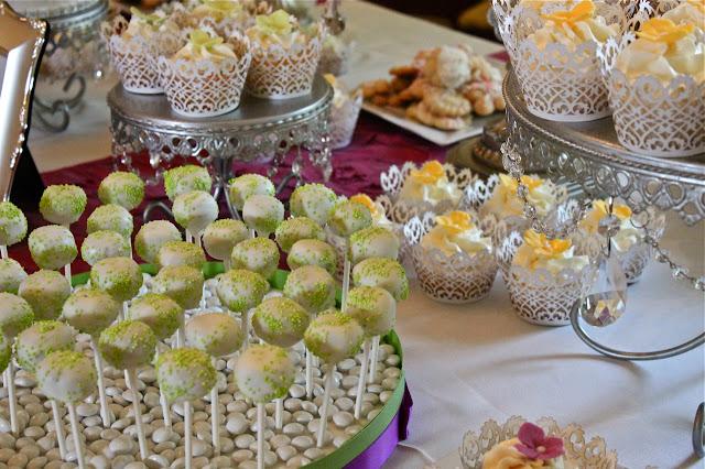 Cupcakes decoração de mesa de casamento