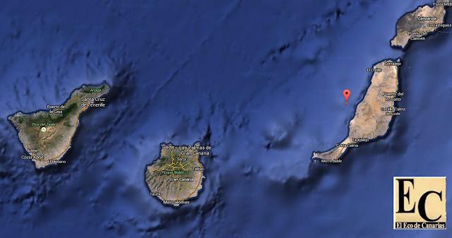 terremoto oeste Fuerteventura , 19 octubre