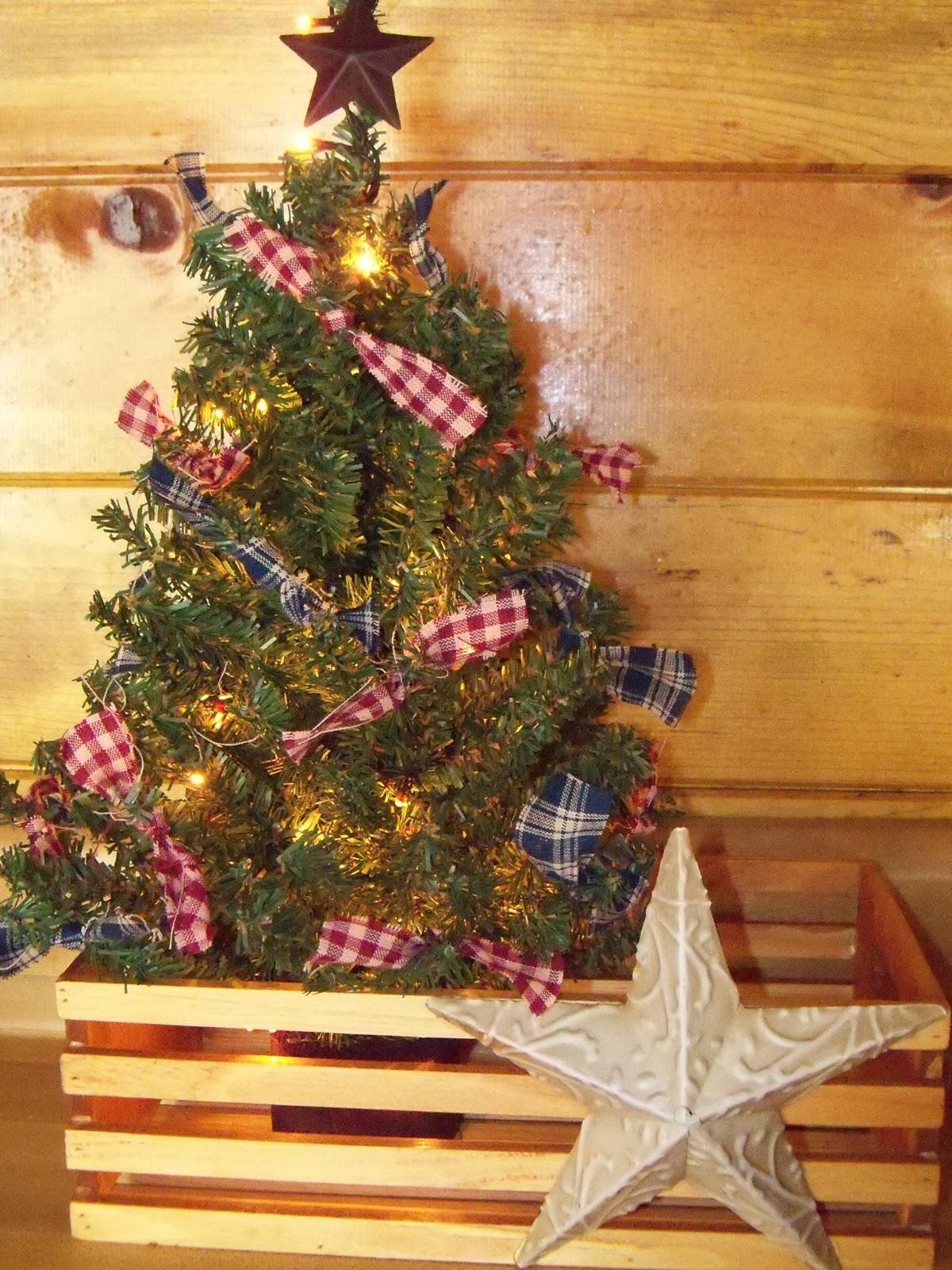 White Christmas Tree Blue Led Lights
