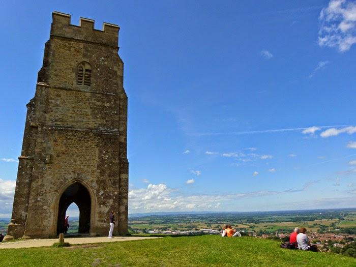St Michaels, Glastonbury Tor, Somerset, viewpoint