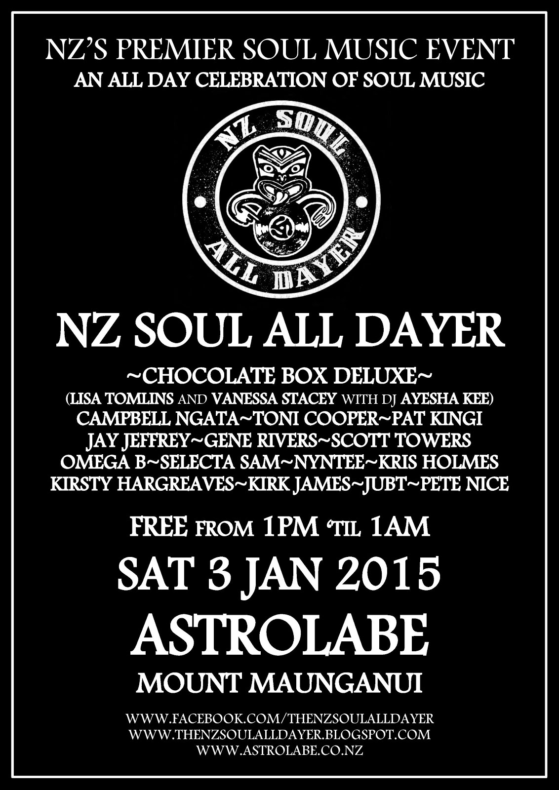 NZ Soul All Dayer Mt Maunganui 2015