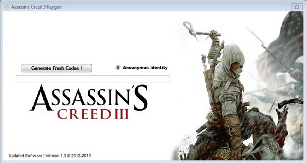 Assassin's Creed 3 CD KEY Generator