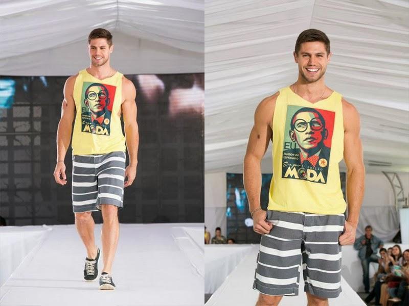 Jonas Sulzbach desfila na passarela do Expo Moda 2013