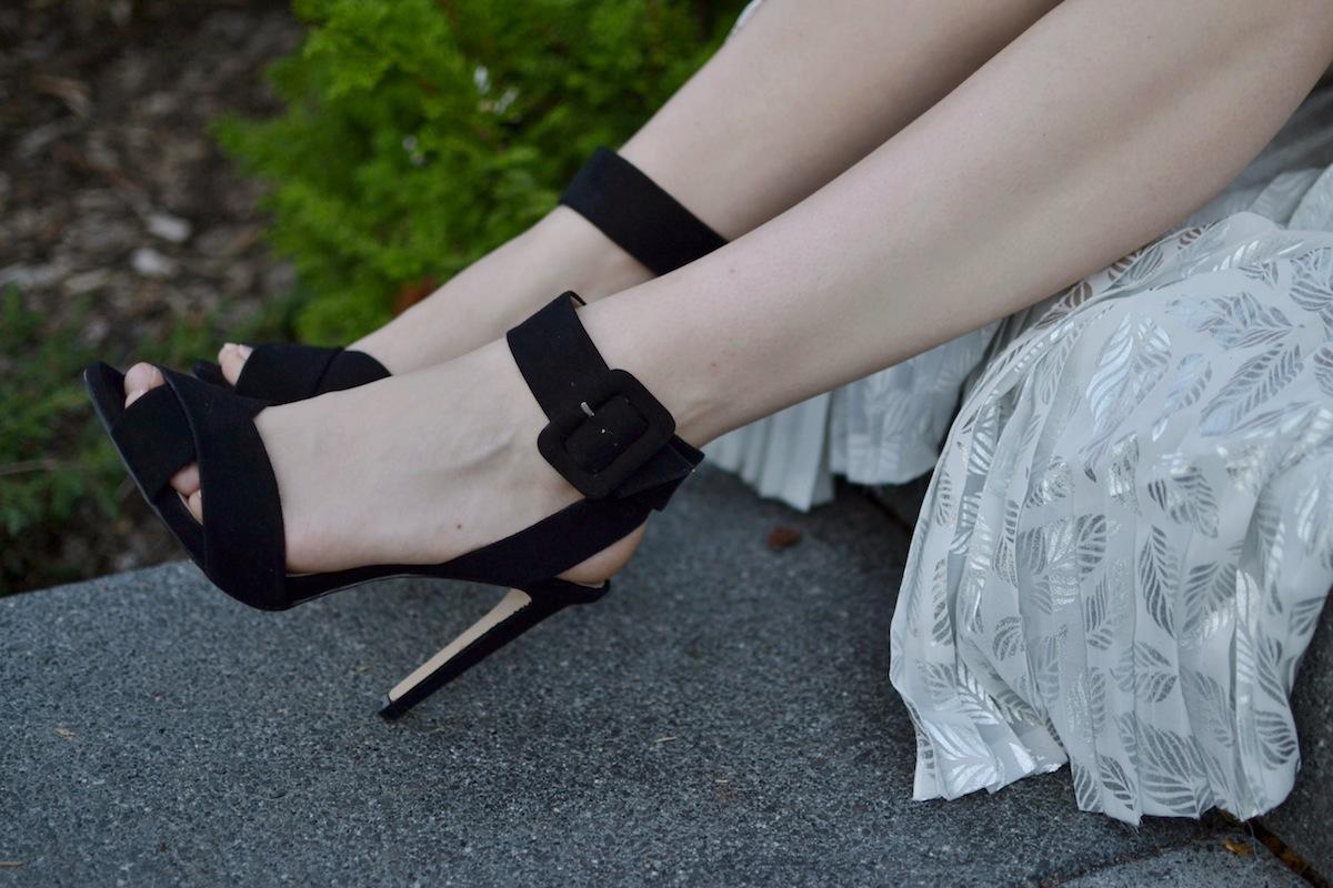 Zara black sandal heels