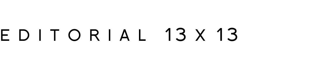 Editorial 13 x 13
