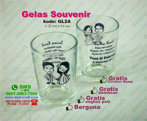 Souvenir Gelas Murah di Jakarta