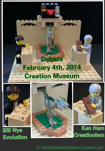 Ken Ham vs. Bill Nye Debtae, Creationism vs. Evolution, Lego Creation by Building Legos with Christ