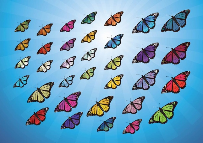110 Free Butterflies Vector Art Graphics Download