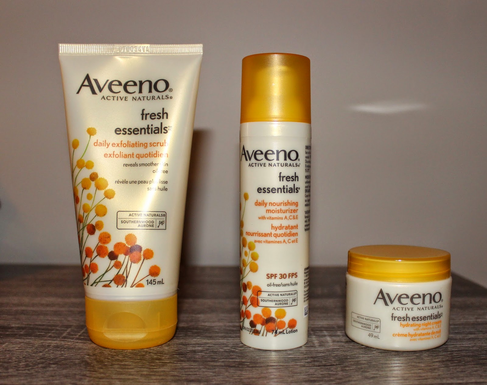 Aveeno Fresh Essentials Line