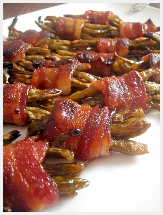 Sweet Green Bean Bacon Bundles {Jam Hands}