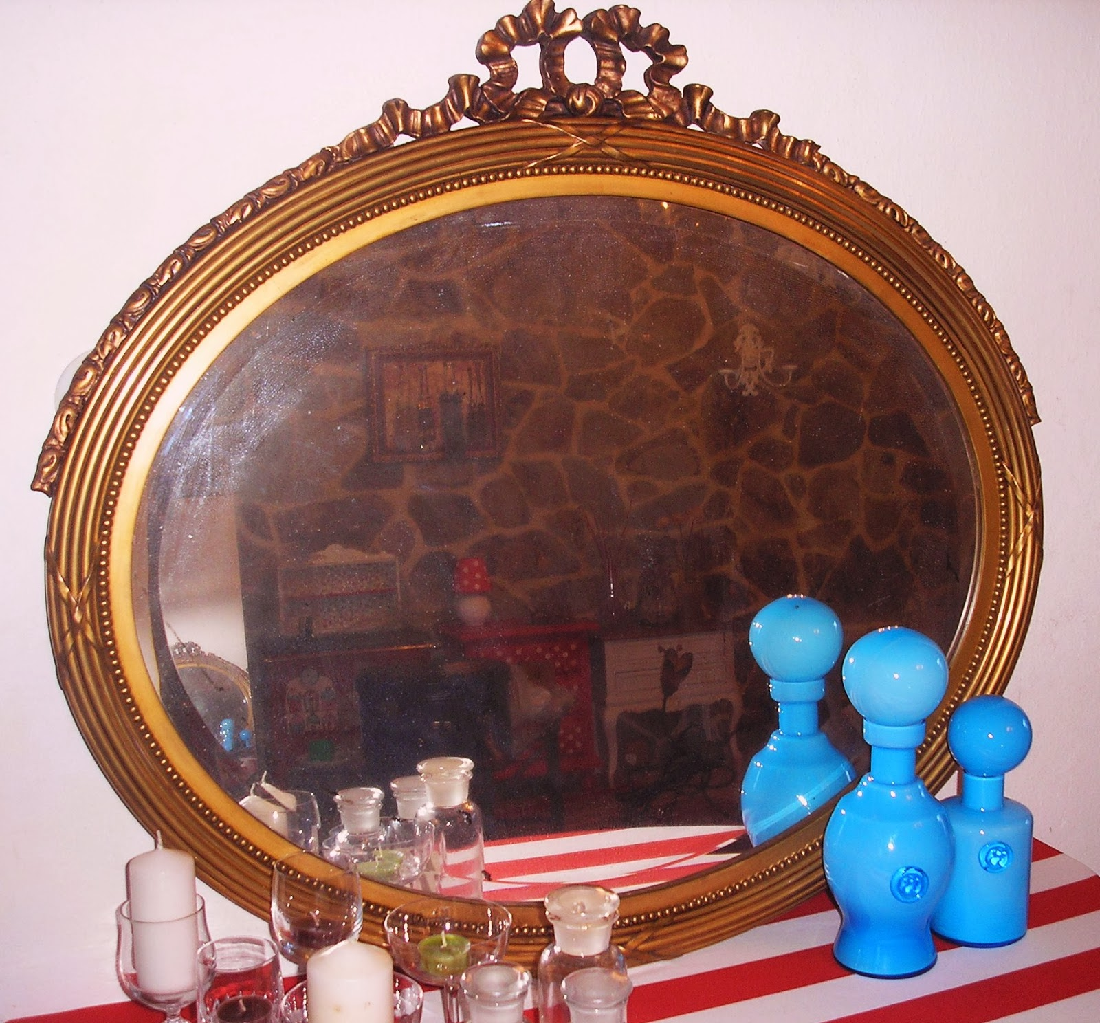 Espejo dorado decoracion for Espejo dorado