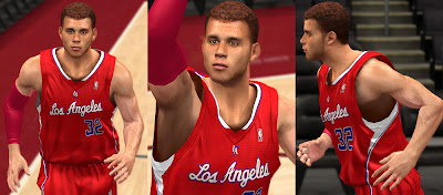 NBA 2K13 Blake Griffin NBA2K Cyberface Realistic Patch