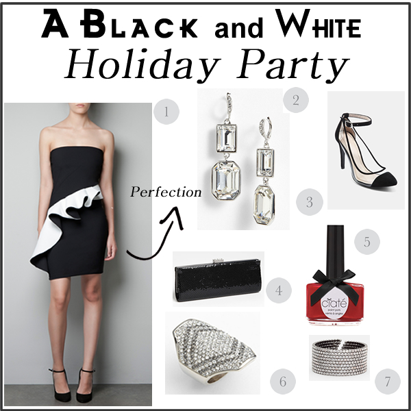 Black and White Holiday Part Fashion Wish List