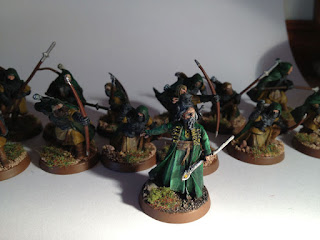 The Hobbit Arnor - Malbeth the Seer with warband of Arnor Rangers