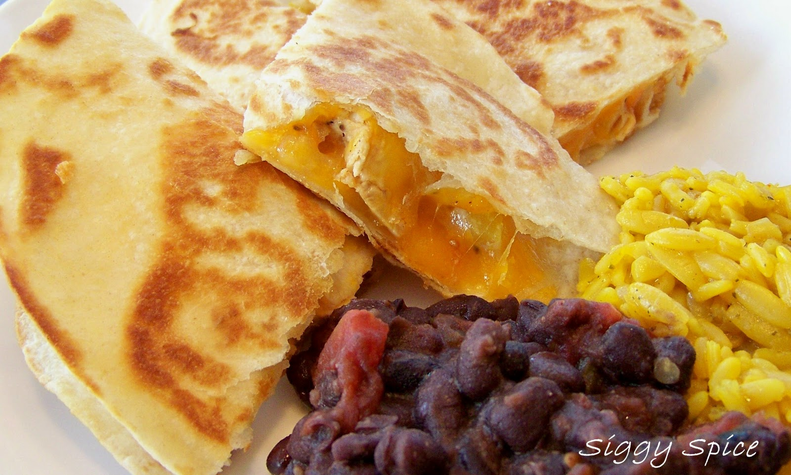 BBQ Chicken and Pineapple Quesadilla by Siggy Spice