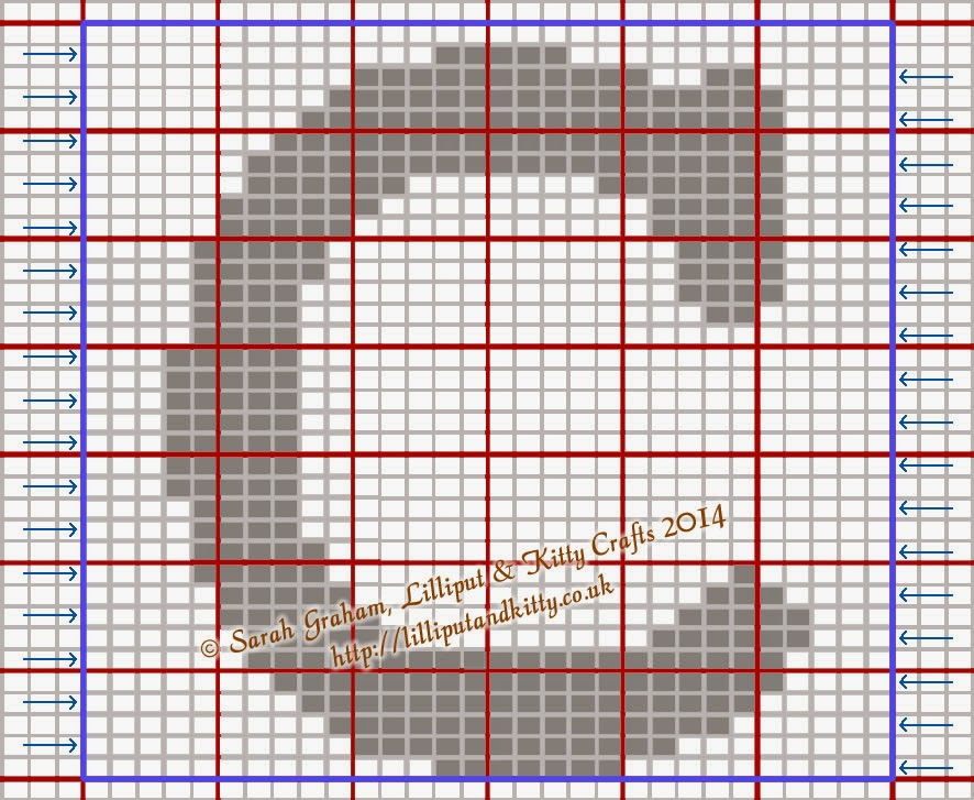 Knitting Letters Chart : Lilliput kitty crafts courier large capital letters