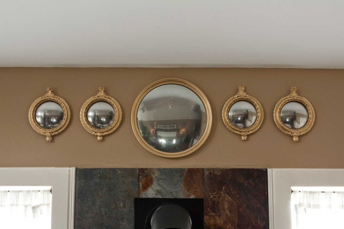 DIY Antique Convex Mirror Tutorial, looking glass paint, gold paint