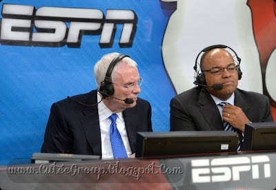 ESPN Sports related global television network, ESPN's name is derived from Entertainment and Sports Programming Network. Some of its programs include live and recorded event telecasts, sports talk shows and other original programs.