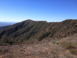 View south toward Glendora Mountain, Angeles National Forest