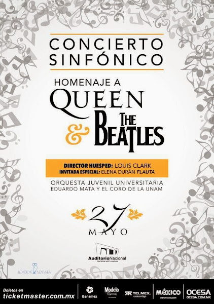 QUEEN Y THE BEATLES SINFÓNICO LOUIS CLARK,  ELENA DURÁN TICKETMASTER