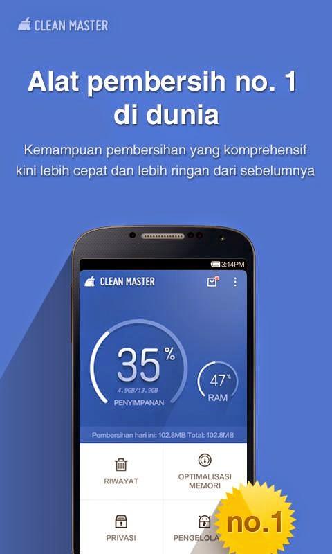 Aplikasi Untuk Android Clean Master (Cleaner) Terbaru Gratis - 2